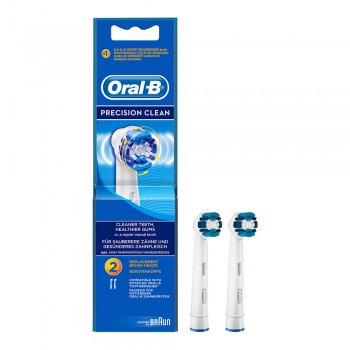 Oral-B Precision Clean Rechargeable Electric Toothbrush Replacement Brush Heads by Braun Refill 2s