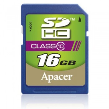 Apacer SDHC Class 10 Memory Card - 16GB