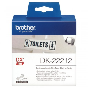 Brother DK22212 Black on White Continuous Length Film - 62mm x 15.24m