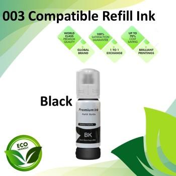 Compatible 003 Black Color Refill Ink Bottle 70ML for Epson L3110 / L3150 / L1110 / L3100 / L3101