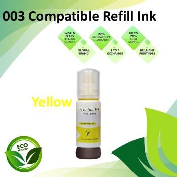 Compatible 003 Yellow Color Refill Ink Bottle 70ML for Epson L3110 / L3150 / L1110 / L3100 / L3101