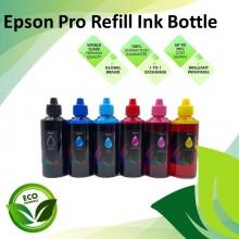 Compatible 6 Color Black/Cyan/Magenta/Yellow/Light Cyan/Light Magenta Pro-Series Refill Dye Ink Bottle 100ML for Epson L-Series Printer