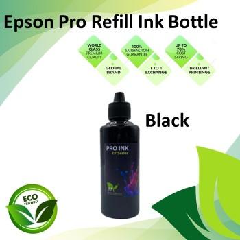 Compatible Black Color Pro-Series Refill Dye Ink Bottle 100ML for Epson L110 / L120 / L200 / L210  / L220 / L300 Printer
