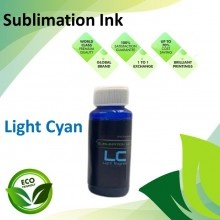 Compatible Light Cyan Color Sublimation Ink 100ML for Epson EcoTank R230 / R330 / R270 / R290 / T50 / 1390 / 1400 Printer