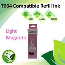 Compatible T664 Light Magenta Color Refill Ink Bottle 100ML for Epson EcoTank L130 / L110 / L100 / L220 / L200 / L310 / L300 Printer