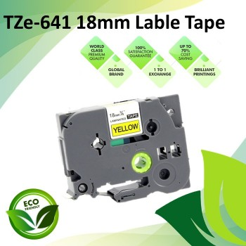 Compatible TZe-641 18mm Black on Yellow Label P Touch Tape for Brother PT-Series Lable Printer