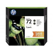 HP 72 Matte Black DesignJet Ink Cartridges 130ml (2 pack)