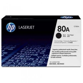 HP 80A Black LaserJet Toner Cartridge (CF280A)