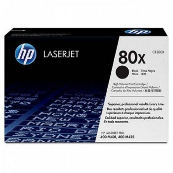 HP 80X Black LaserJet Toner Cartridge (CF280X)