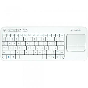Logitech K400 Wireless Touch Keyboard-White