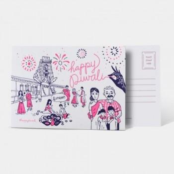 Letterpress Card - Happy Diwali