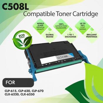 Samsung CLT-C508L Cyan Premium Compatible Toner Cartridge
