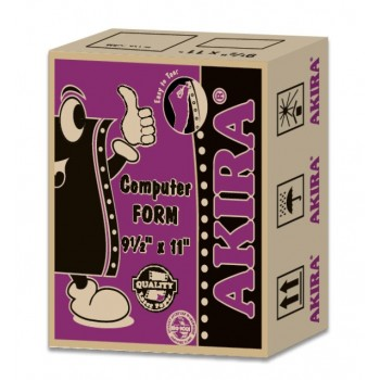 "Akira Purple Ncr 3Ply Wpy 9.5"" X 11"" (250Fans)"